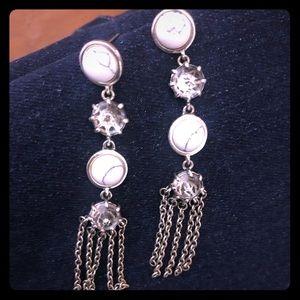 Rebecca Minkoff silver rockstar earrings